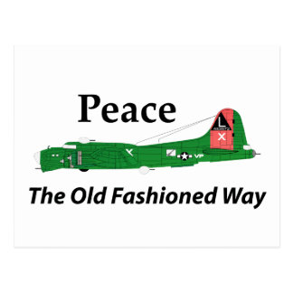 Fortaleza del vuelo B-17 - paz la manera pasada de Tarjeta Postal