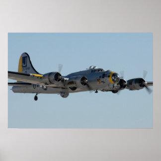 Fortaleza del vuelo B-17 Póster