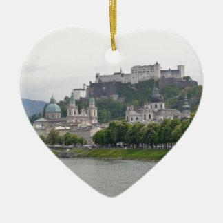 Fortaleza Hohensalzburg, Salzburg, Austria Adorno Navideño De Cerámica En Forma De Corazón