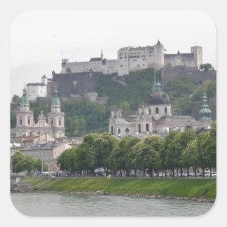 Fortaleza Hohensalzburg, Salzburg, Austria Pegatina Cuadrada