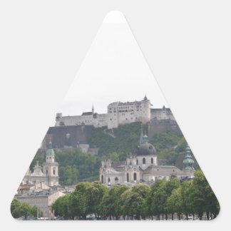 Fortaleza Hohensalzburg, Salzburg, Austria Pegatina Triangular
