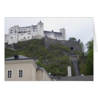 Fortaleza Salzburg Austria de Hohensalzburg Tarjeta De Felicitación