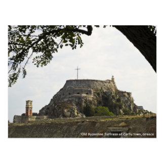 Fortaleza vieja en Corfú Tarjetas Postales