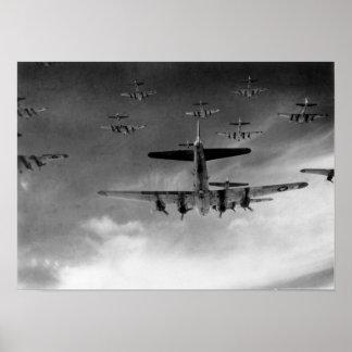 Fortalezas del vuelo B-17 Poster