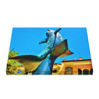 Forte dei Marmi Dolphin Sky Shot, Wrapped Canvas