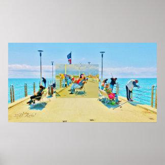 Forte dei Marmi Pier Daydream, Poster Print