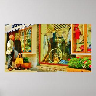 Forte dei Marmi Window Shop Poster Print