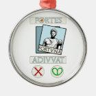 Fortes Fortuna Adiuvat Metal Ornament