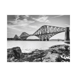 Forth Bridge from South Queensferry Stretched Canvas Print