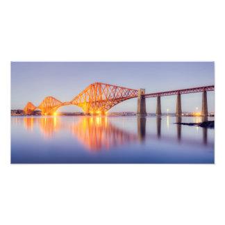 Forth Bridge Golden Sunset Photo Print