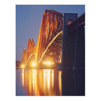 Forth Bridge Lit up Postcard