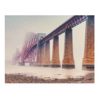 Forth Bridge Rain Postcard