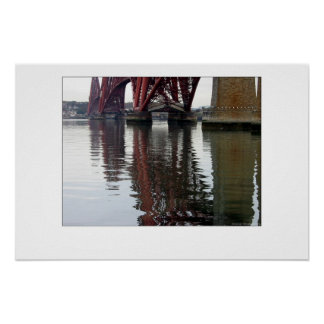 Forth Bridge Reflections Poster