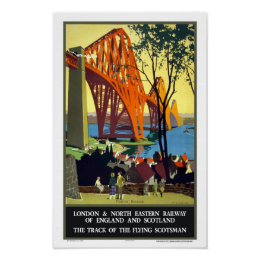 Forth Bridge, Scotland- Flying Scotsman Poster