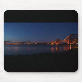 Forth Bridges at Night Mousepad