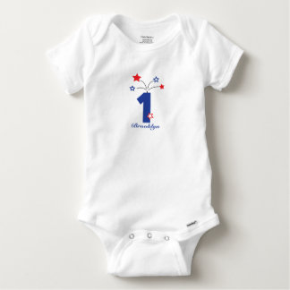 Forth of July First Birthday Outfit Baby Onesie