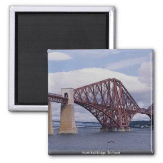 Forth Rail Bridge, Scotland 2 Inch Square Magnet
