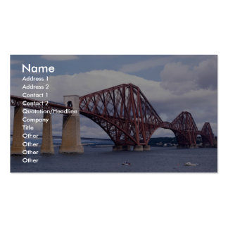 Forth Rail Bridge, Scotland Double-Sided Standard Business Cards (Pack Of 100)