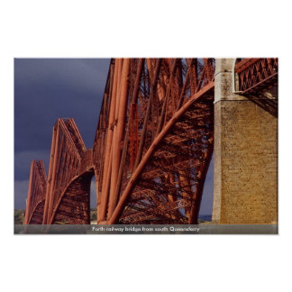 Forth railway bridge from south Queensferry Poster