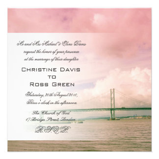 Forth Road Bridge, Edinburgh wedding invitation