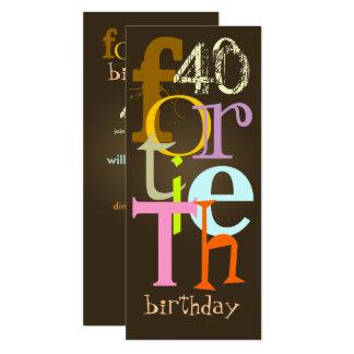 Fortieth Birthday Party Invitations