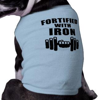 Fortificado con hierro playera sin mangas para perro