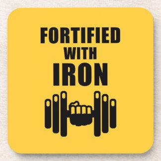 Fortificado con hierro posavasos de bebidas
