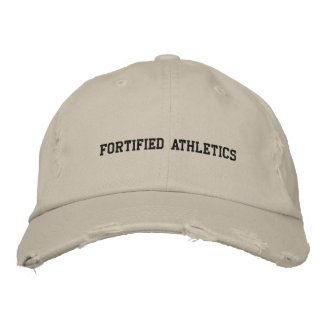 Fortified Athletics worn hat Embroidered Baseball Cap