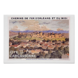 Fortified Carcassonne France Poster