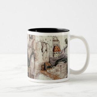 Fortified Castle Two-Tone Coffee Mug
