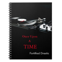 Fortified Drastic Black Spiral DJ Style Note Book