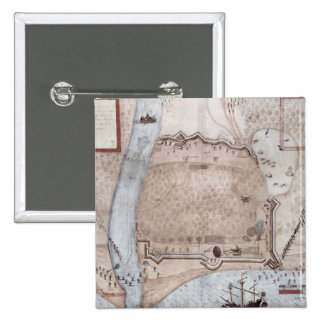 Fortified Encampment, Puerto Rico Button