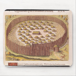 Fortified Indian Village, from 'Brevis 2 Mouse Pad