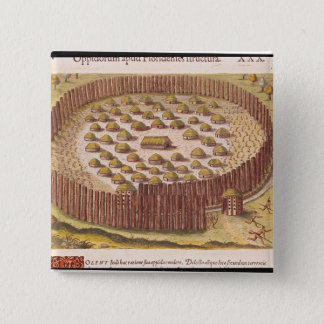 Fortified Indian Village, from 'Brevis 2 Pinback Button