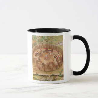 Fortified Indian Village, from 'Brevis Mug