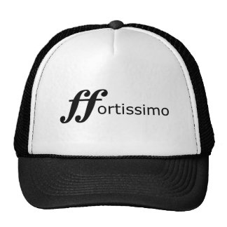 fortissimo black text hat