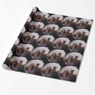 Fortitude and Justice by Giovanni Battista Tiepolo Wrapping Paper