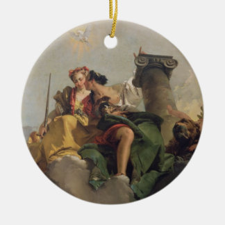 Fortitude and Justice, from the 'Sala Capitolare' Ceramic Ornament