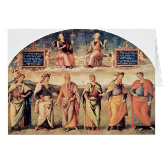 Fortitude And Temperance With Ancient Heroes Greeting Cards