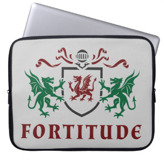 Fortitude Dragon Coat of Arms Computer Sleeve