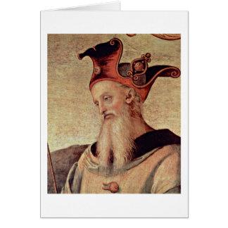 Fortitudo And Temperance By Pietro Perugino Cards