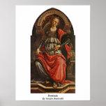 Fortitudo de Sandro Botticelli Poster