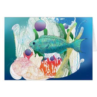 Fortnight Fish says hello. Card