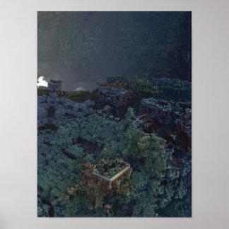 Fortress 3D Fractal Poster
