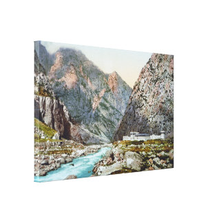Fortress in the Dariel Ravine, Caucasus, Russia Canvas Print