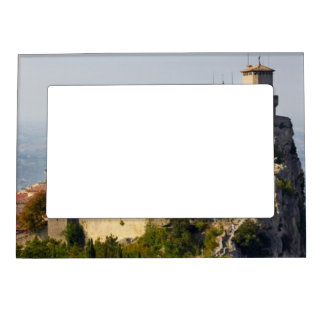 Fortress of Città di San Marino, Italy Magnetic Picture Frame