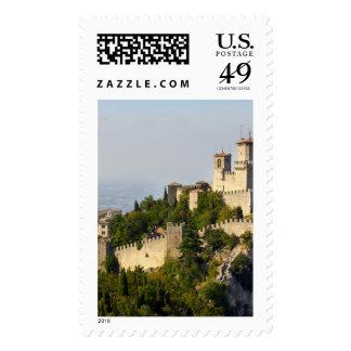 Fortress of Città di San Marino Italy Postage Stamp