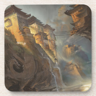 Fortress Of Dragon Slayers Beverage Coaster