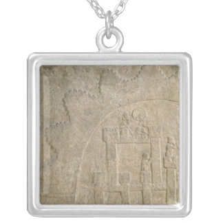 Fortress under Siege, from Nimrud, Iraq Silver Plated Necklace