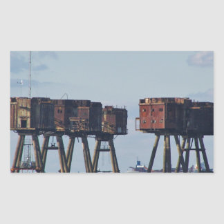 Forts In The Thames Estuary Rectangular Sticker